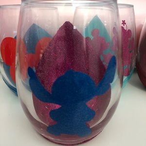Stitch Disney Handmade Wine Glass